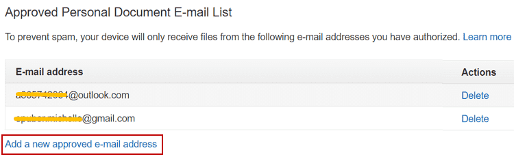 approved personal email document email list