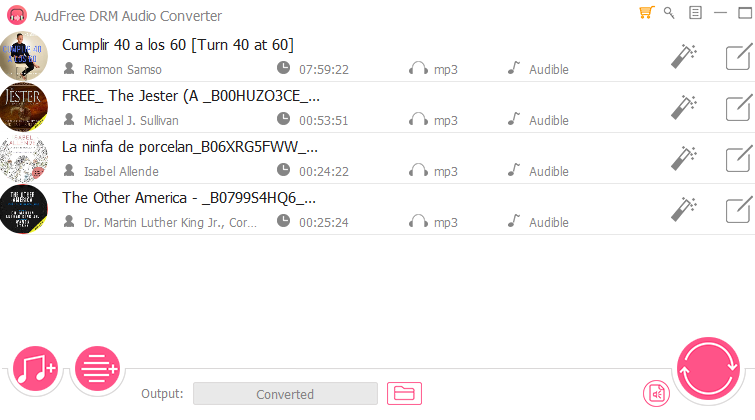 Remove Audiobook DRM - Best Audible/iTunes Audiobook Converters