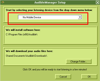 audible manager setup