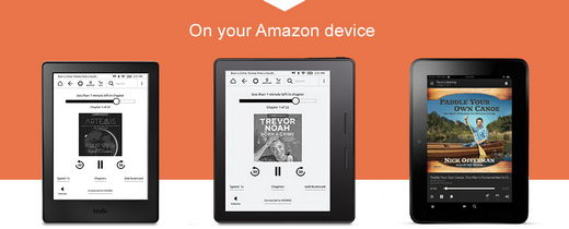 listen to audible on kindle devices