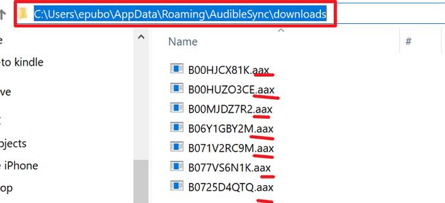 audiblesync downloads location