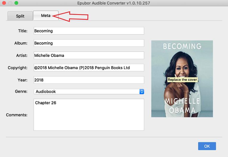 audiobook meta edit