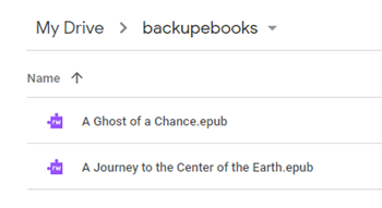 How to Backup Books