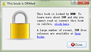 can not read drmed azw3 files with calibre