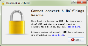 cannot convert drmed files