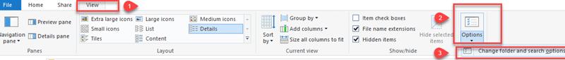 configure computer folder option