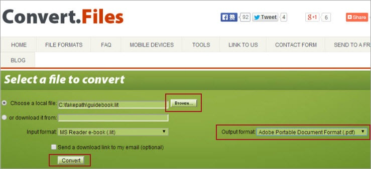 convert lit to pdf online free