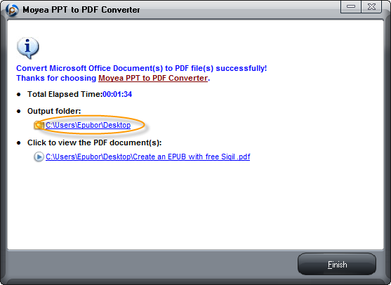convert ppt to pdf-finish