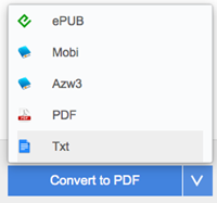 choose epub or specific Nook device as output format