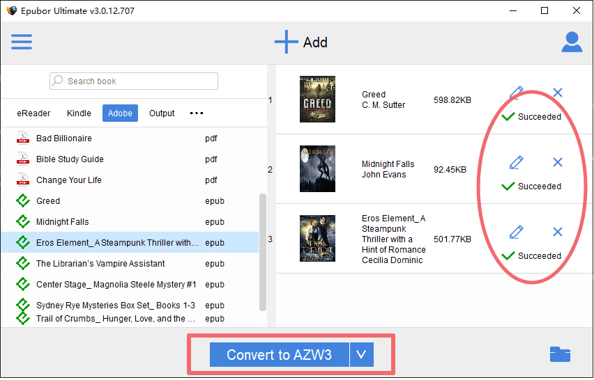 convert ebooks to kindle supported format
