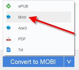 convert epub to kindle mobi