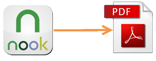 convert Nook to PDF