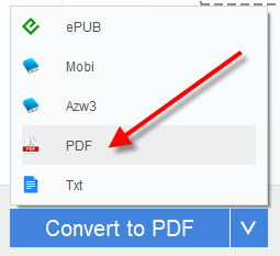 convert drm free kindle to pdf