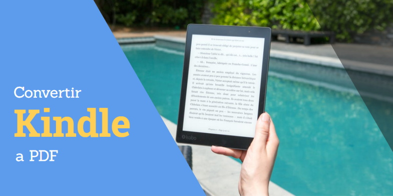Convertir libros de Kindle a PDF