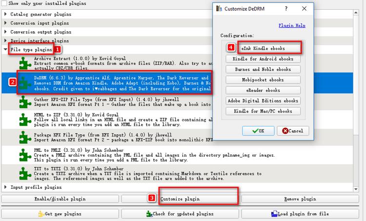 Calibre DRM Removal Plugins
