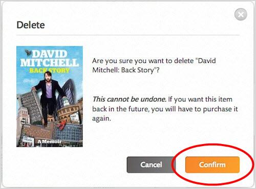 delete nook books to confirm