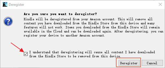 Kindle for pc deregister