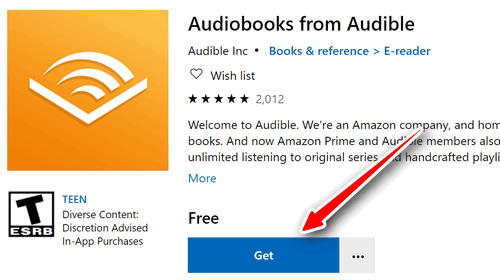 download audible for windows 10 app