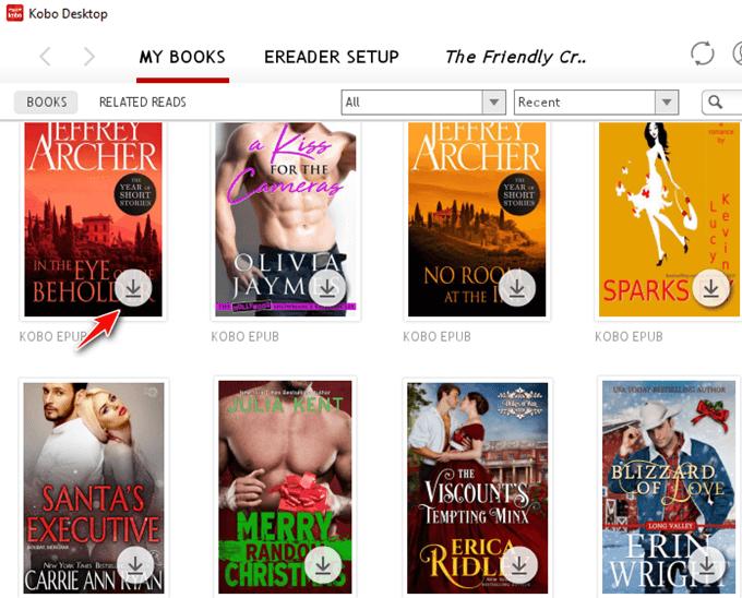 download kobo books via kobo desktop