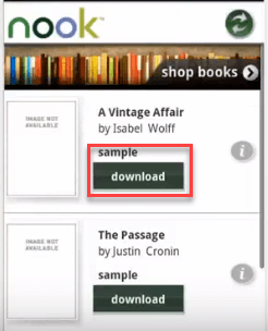 download nook books to android device