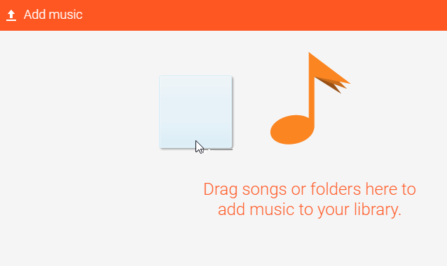 Drag and drop audible to google play music