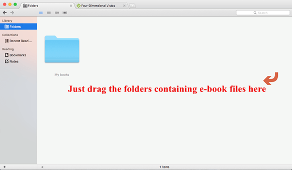drag folder to clearview