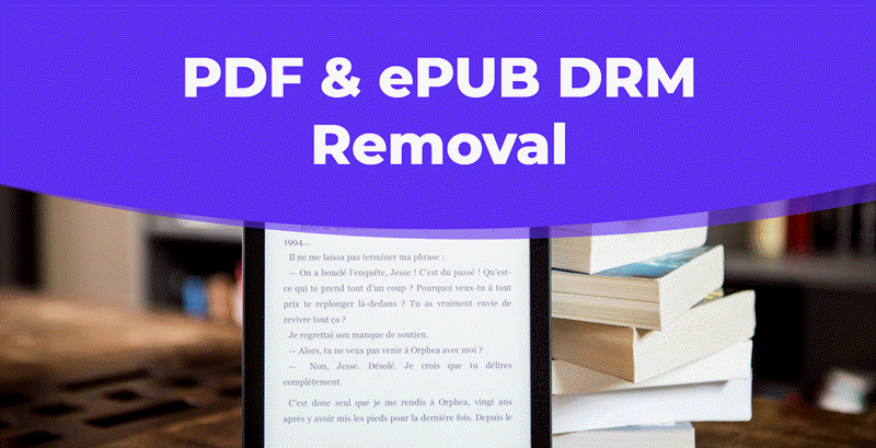 pdf epub drm removal mac