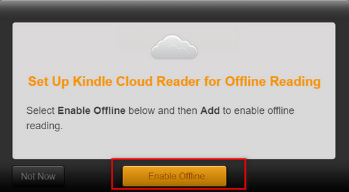 kindle cloud reader enable offline