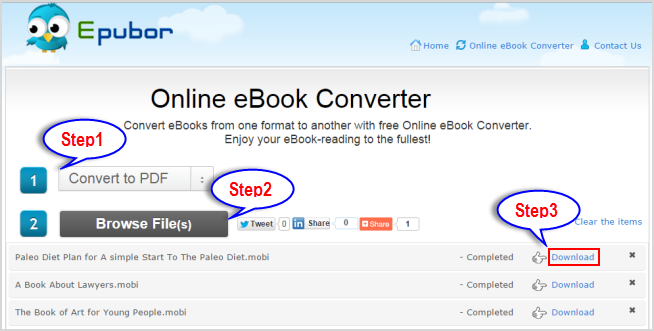 convert mobi to pdf with epub online ebook converter