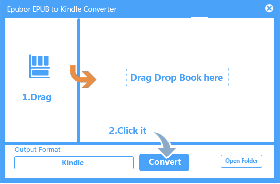 epub to mobi converter interface