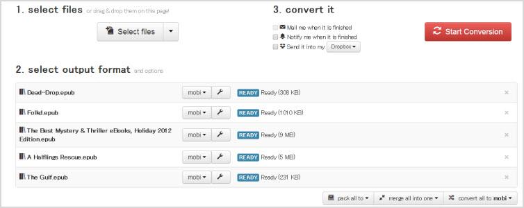 cloudconverter to convert epub to mobi online