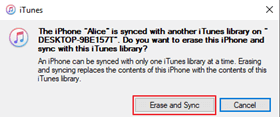 erase and sync