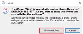 erase and sync