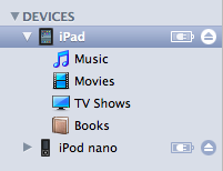 ios device in itunes