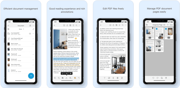 Foxit PDF reader for iOS