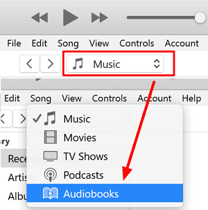 add m4b files to iTunes library