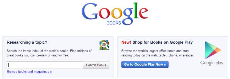 print google books