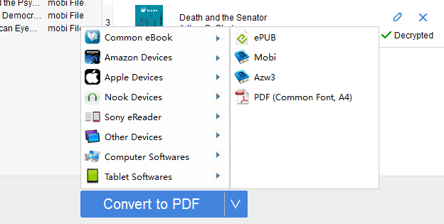 how to convert kfx books to epub mobi azw3 pdf
