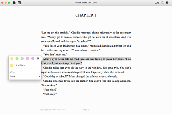 ibook feature