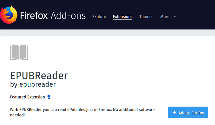 Free firefox download reader epub