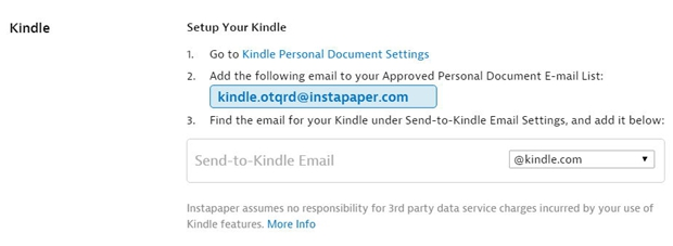 Instapaper to Kindle