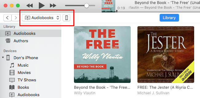 itunes audible player