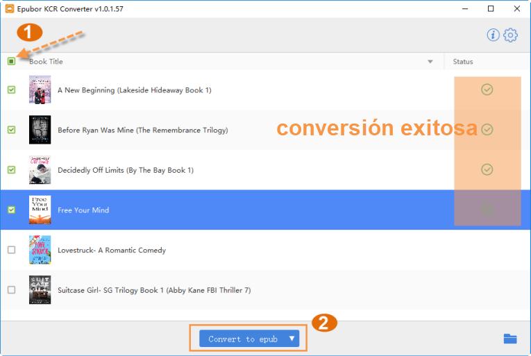use epubor kcr converter