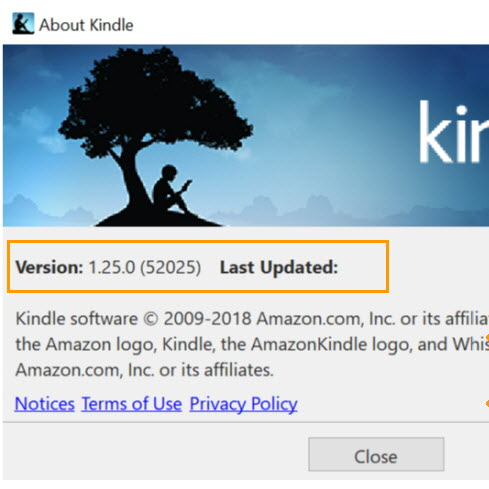 Kindle for pc 1.25