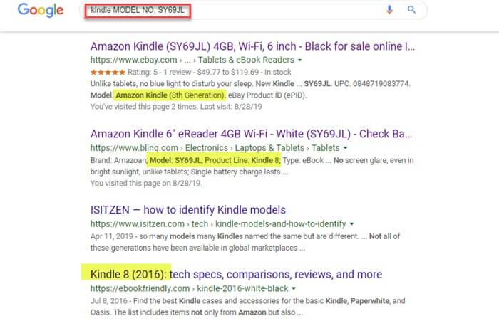 search kindle generation at google