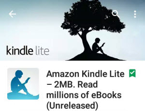 The Lightest Reading App is Here: Amazon 2MB Kindle Lite App