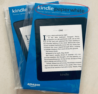 identify kindle model kindle packaging box