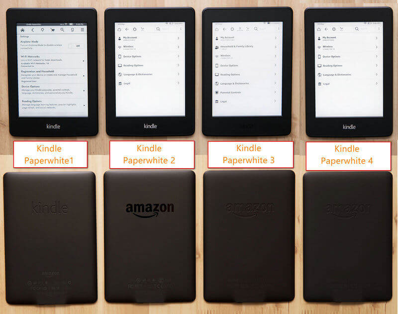 kindle paperwhite models