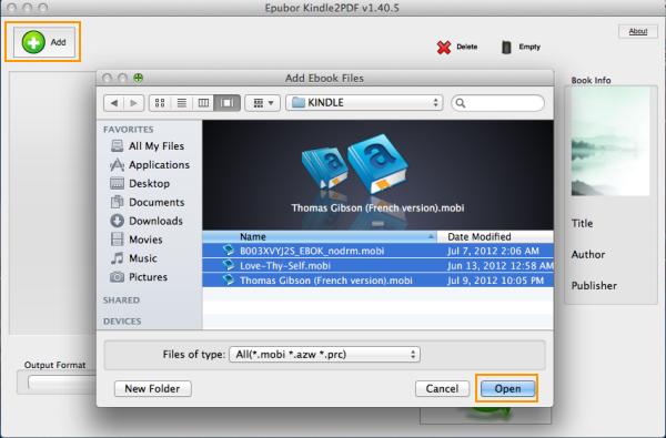 Epubor Kindle to PDF Converter for Mac 2.0.2.7 full