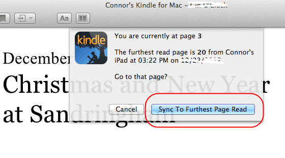 kindle for mac whispersync